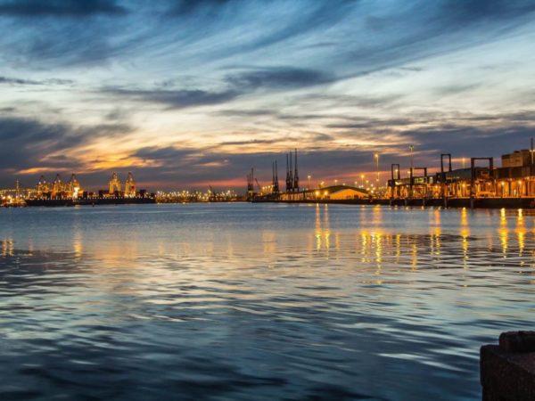 Southampton Docks at Night, Hampshire